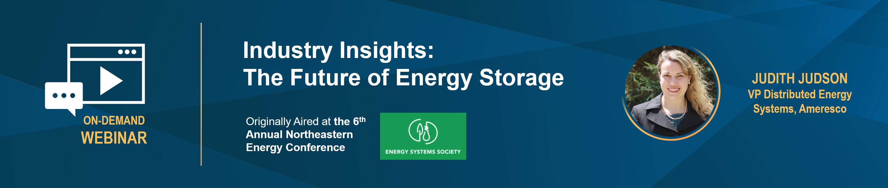 Northeastern University Energy Conference - Energy Storage LP-1
